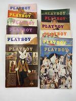Vtg All 1972 PLAYBOY Magazine Lot 12 Issues - Jan - Dec