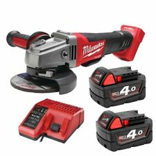 Milwaukee M18CAG115XPD-402C 18V Fuel Angle Grinder Paddle Switch Case 2x 4Ω Batt