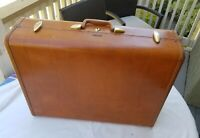 Vtg 1950's SAMSONITE Shwayder Bros  Tan Hardcase Luggage USA 19.5x26