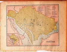 Beautiful Original 1899 Washington DC Map