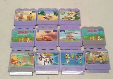 Vtech Game Lot Of 11 ALADDIN TOY STORY SPIDER MAN CARS SCOOBY DO BERT ERNIE
