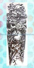 """temporary tattoos cheap black totem 18"""" full arm sleeve temporary tattoo"""