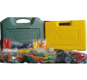 Knex Lot Storage Box Case with Mixed Lot K'nex Bulk Pieces Green Yellow