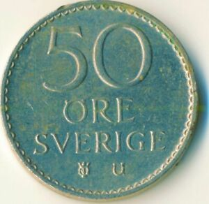 COIN / SWEDEN / 50 ORE 1973     #WT12096