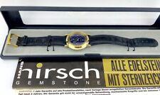 Hans Hirsch Gemstone Lapislazuli blau Armbanduhr watch Quartz 1995 Herren Damen