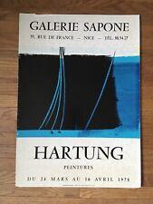 Hans Hartung Vintage Galerie Saponie Nice France Mounted Art Poster Artwork