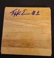 TYREKE EVANS SIGNED NBA HARDWOOD FLOORBOARD KINGS MEMPHIS B W/COA+PROOF RARE WOW