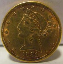 (209) 1881 LIBERTY HEAD $5 FIVE DOLLAR COIN Lot 215