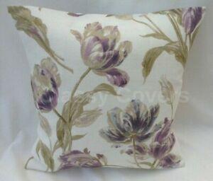 Lovely Laura Ashley Designer Cushion Cover GOSFORD PLUM Fabric Various Sizes