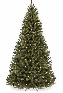 6ft Pre-Lit Spruce Hinged Artificial Christmas Tree w/ 250 UL-Certified Lights