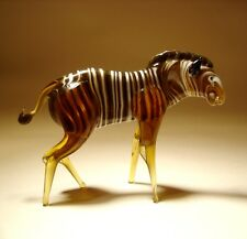 "Blown Glass Figurine ""Murano"" Art Animal ZEBRA"