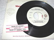 "Morris Day ""Color of Success & Instrumental"" 45 RPM, 7"" Single,+Jukebox Strip"