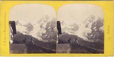 Suisse la Wengernalp Photo A. Braun Stereo Vintage Albumine ca 1865