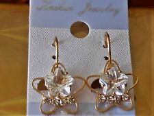 Shape Faceted Earrings Nwt Gold Tone Star
