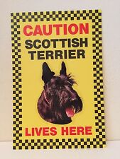 BEWARE OF THE DOG CAUTION SIGN SCOTTISH TERRIER LIVES HERE