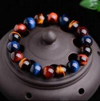 Jewelry Tigers Gemstone Bracelet Beads Eye Men Women Natural 6mm Bangle Stone