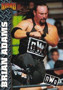 Brian Adams 1999 Topps WCW/nWo Nitro Card #38 WWE Crush Pro Wrestling Superstar