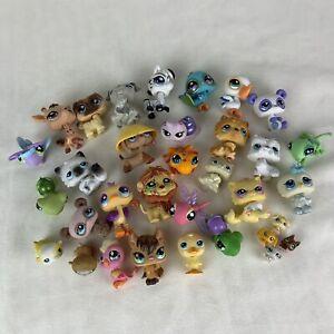 Littlest Pet Shop/Hasbro Random Lot Of 34-Authentic LPs Toys