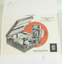 Linhof Technika 70 copy INSTRUCTION Users MANUAL Booklet English 33 pages