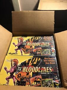 DC BLOODLINES SKYBOX SEALED BOX STRAIGHT FROM CASE