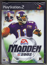 PS2 Madden NFL 2002, ( 2001 ) UK Pal, Brand New & Sony Factory Sealed