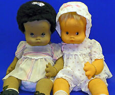 1984 Pair of Lloyderson Dolls Mary Vazquez, Felt Made in Spain African American