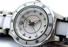 Bulova  98P124 Substantial Ceramic  Diamonds Stainless-Steel Women's Wristwatch