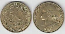 Gertbrolen 50 Centimes Marianne Cupro-Aluminium-Nickel 1962 Col à 3 plis