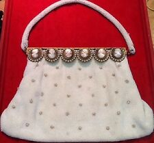 Purse France 1950 Pearl Embroidry