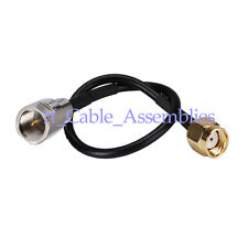 RP SMA Male female pin to FME male plug RF pigtail Cable RG174 15cm for Wireless