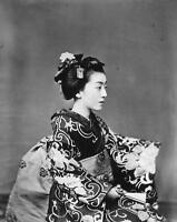 Japanese Geisha By Felice A Beato  8x10 Photo Print