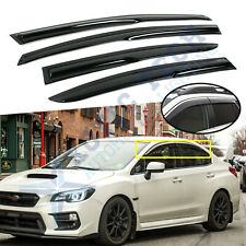 Smoked Window Sun Visors Vent for Subaru Wrx, Sti Impreza 2015-2020 Rain Guard (Fits: Subaru)