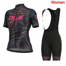 Black Summer Women Cycling Jersey Set Black Short Sleeve Womens Cycling Jersey