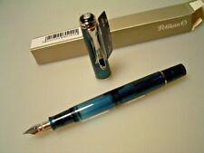 ***START USD 99!***  PELIKAN M205 aquamarine demo pen, EF nib