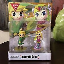 Nintendo Wii Switch Link Zelda 30th Anniversary Wind Waker New Sealed Amiibo Set