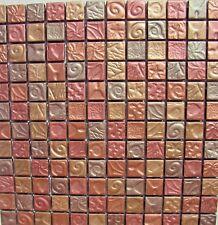 """ AUTUM LEAVES "" Mosaic Tile Bronze Copper Gold Wall Tiles Backsplash Bath Bar"