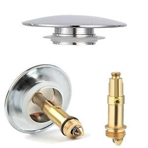 Copper Easy Pop Up Basin Waste Sink Bathroom Push Button Click Clack Plug Bolt