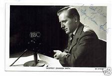 Geoffrey Johnson Smith Politician & TV Presenter Hand Signed photograph 5 x 3