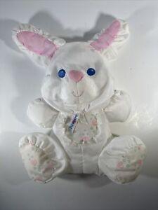 1994 Fisher Price White Rabbit Puffalump Rattle
