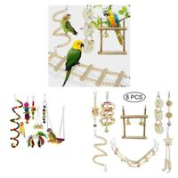 15x Parrots Stand Perch Chew Toys Play Climb For Medium Birds Conures Canary