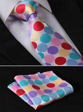Cravate hommes en rainbow à pois avec Rouge Rose Bleu Jaune Vert Sarcelle Violet