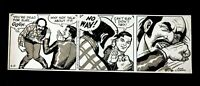 JOHN CELRADO Signed Orignal Hand Inked Buz Sawyer Daily Comic Strip 4/13/85 #AZ