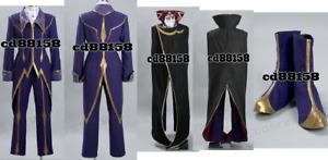 Code Geass Zero Lelouch Cosplay Costume  *Custom Made*