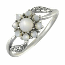 Pearl Not Enhanced Sterling Silver Fine Rings