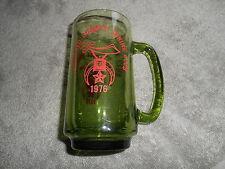 GREEN GLASS MUG -- ASHLAND COUNTY SHRINE CLUB - 1976
