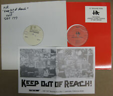 "H.R. Keep Out Of Reach 12"" Stock + TEST PRESSING Bad Brains 1987 SST PUNK Rasta"