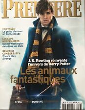 Premiere Magazine FRENCH Eddie Redmayne Fantastic Beasts Benedict Cumberbatch