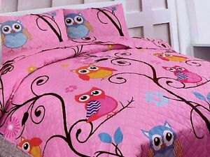 Home Bedding 2/3 pieces Girls Kids Bedspread Coverlet Quilt Set with 2 Shams.