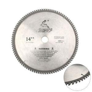 350mm 100Teeth Carbide Circular Saw Blade Cutting Discs For Steel Wood Plastic