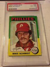 1975 Topps Mini Card #70 Mike Schmidt Philadelphia Phillies PSA 6 Ex-Mt HOF
